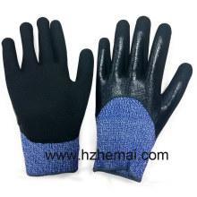 Cut Resistant Handschuhe Double Nitril getaucht Hppe Handschuhe Arbeitshandschuh