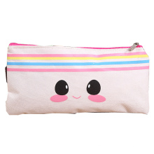 Wholesale custom printed promotional unicorn soft polyester fabric pencil case bag