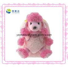 Pink Fashion Dog Plush Mochila