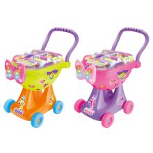 Carrinho de compras carrinho de brinquedo de plástico com luz (h0009426)