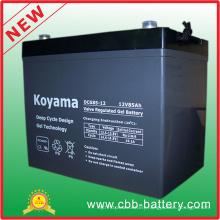 12V 85ah Deep Cycle Gel Battery for Golf Cart