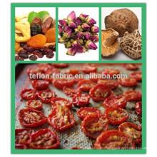 China Günstige Langlebige PTFE Hochtemperatur Non Stick Open Mesh Förderband für Lebensmittel Trockner Verarbeitung