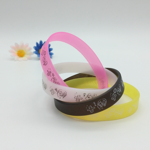 Color Printing Silicone Bracelets