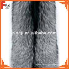 Couleur naturelle de la peau de renard argenté