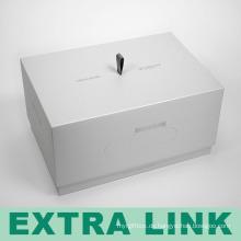 Luxus hochwertige herstellung umwelt starre pappe logo schwarz siebdruck rechteckigen handy box