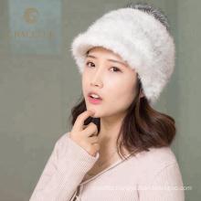 Super soft winter real fox fur australian wool hat