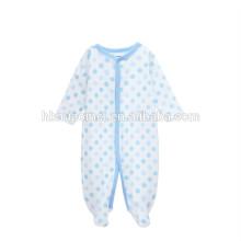 оптовая дешевой цене фирменная новорожденных детская одежда зима с длинным рукавом органический хлопок ребенка ползунки