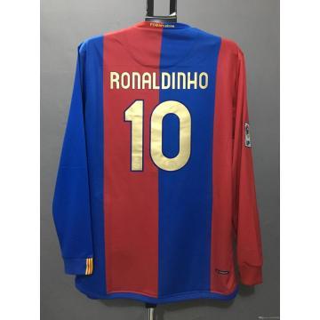 Футболка ретро Барселона Футболка RONALDINHO XAVI