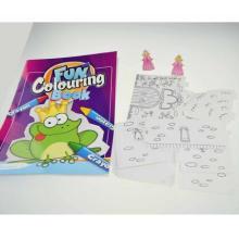niños, niños, pintura, color, relleno, crayón imprimible, colorante, libro