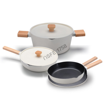 7pcs granite nonstick coating kitchen cooking pot coowkare set