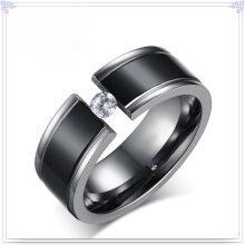Cristal joyería accesorios de moda de titanio anillo (tr106)