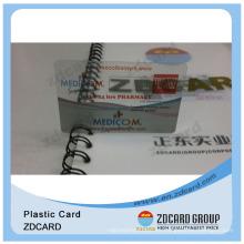 Clear Blank Magnetic PVC Transparent Tarjetas De Negocio