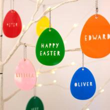 Oeufs de Pâques décoratifs suspendus en acrylique