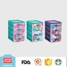 4- layers beautiful plastic drawer storage box with high quality material