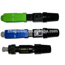 Conector rápido de fibra óptica Conector rápido SC SX inferior a 0,1dB Perda de inserção