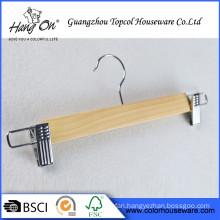 Durable wood hanger for clothes Children Wooden Hanger Printed Logo
