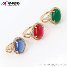 13722 Xuping Gold Rings nouveau modèle Big Gemstone Ring, dernière conception de bague de mariage