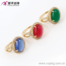 13722 Xuping Gold Rings New Model Big Gemstone Ring, Latest wedding ring design