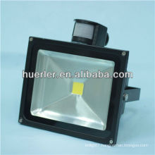 high power 50w 200-240v/AC50-60hz 36v/DC 5-8m/120deg pir sensor led floodlight