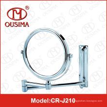 Espejo de maquillaje de espejo de pared de cromo de montaje en espejo