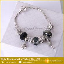 Mode Herz Armband Günstige Charm Bead Armband Schlangenkette Armband Schmuck