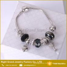 Fashion Heart Bracelet Cheap Charm Bead Bracelet Snake Chain Bracelet jewelry