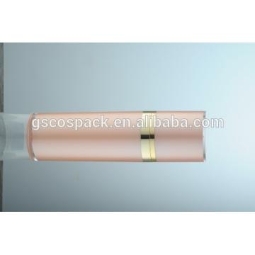 Косметическая розовая акриловая крем-бутылка