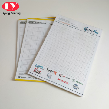 Blocco note di carta Cover Daily Planner Notepad Custom Logo