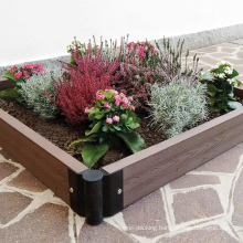 Rot Resistant Easy Intallation DIY WPC Flower Bed Composite Wood Plastic Planters & Pots
