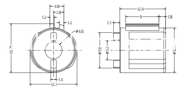Barrel Damper Drawing For Small Flip Plate