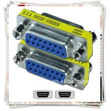 NOUVEAU 15Pin VGA SVGA femelle à femelle connecteur adaptateur adaptateur / adaptateur VGA
