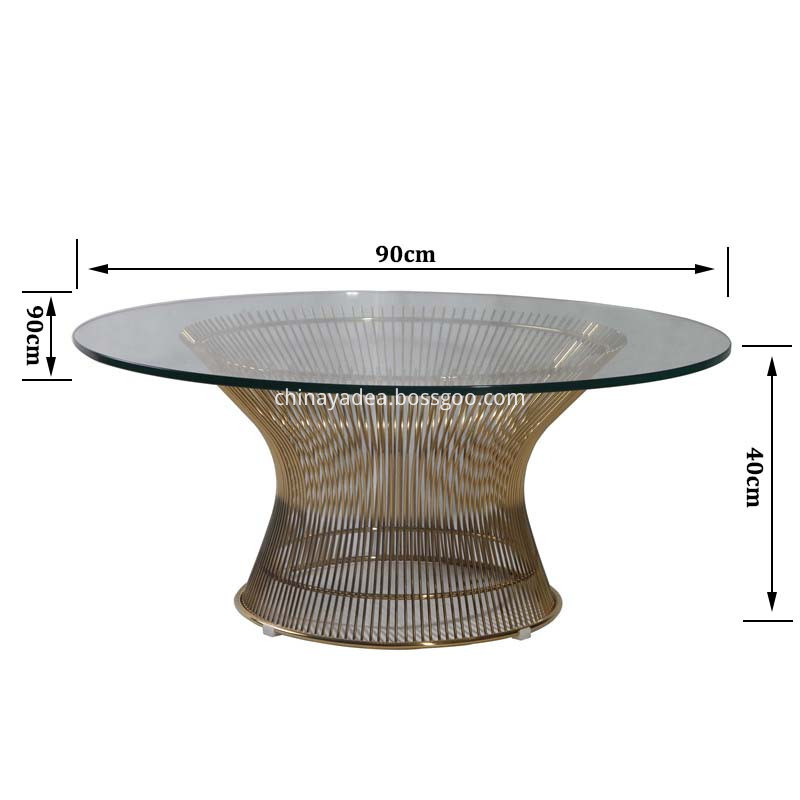 coffee table size
