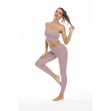 Sólida Leggings Sports Top Sutiã Treino Feminino Fitness