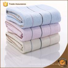 Factory Soft Stripes Jacquard Cotton Custom Gym Towel With Logo