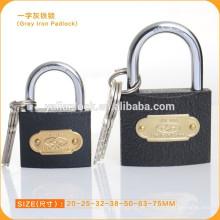 Candado de hierro gris de alta calidad con clave cruzada