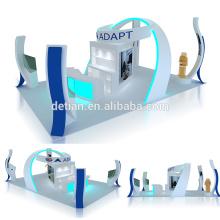 Detian offre 6x9 pour 6x6 affichage rétroéclairé modulaire d'exposition de salon de bois personnaliser
