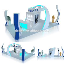 Detian offer 6x9 for 6x6 modular backlit wood trade show exhibition display customize