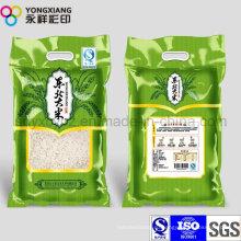 Пластиковый пакет для ламинирования с пластиковой упаковкой для риса с ручкой