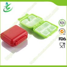 Mini-Beutel-Form-Pille-Kasten mit 8-Kasten, quadratischer Pille-Kasten