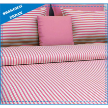 Pink Stripe Printed Cotton Bedsheet Set