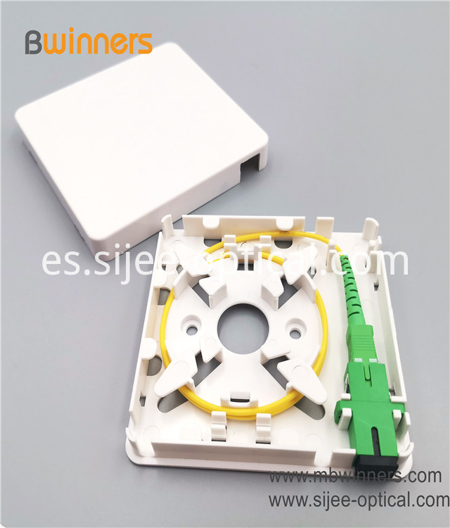 Fiber Wall Socket Faceplate