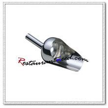 U007 Round Stainless Steel Powder Scoop