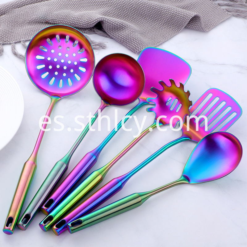 6 Colors Metal Kitchen Tool Set