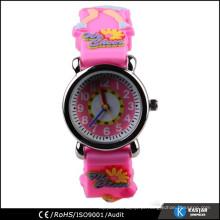 Tiras de silicone moda cor relógio quartzo crianças