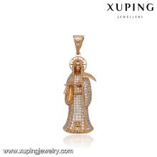 33007 Xuping Jóias Moda 18 K Pingente Banhado A Ouro para o Presente de Dia Das Bruxas