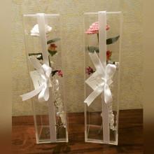 Boîte à fleurs acryliques verticales de style nouveau style