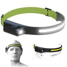 2021 New 350 Lumen USB Rechargeable LED Headlamp Waterproof Head Flashlight 5 Modes Led Headlights with Motion Sensor