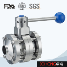 Stainless Steel Hygienic Manual Welded Butterfly Valve (JN-BV1011)
