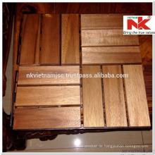 Vietnam Holz Deck Fliesen 300x300x19 mm - langlebig außen durch Ölbeschichtung