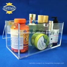 Jinbao personalizar racks de exhibición de exhibición de maquillaje de plástico de material acrílico